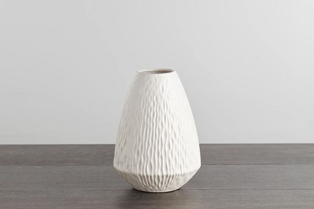 Waves White Vase (0)