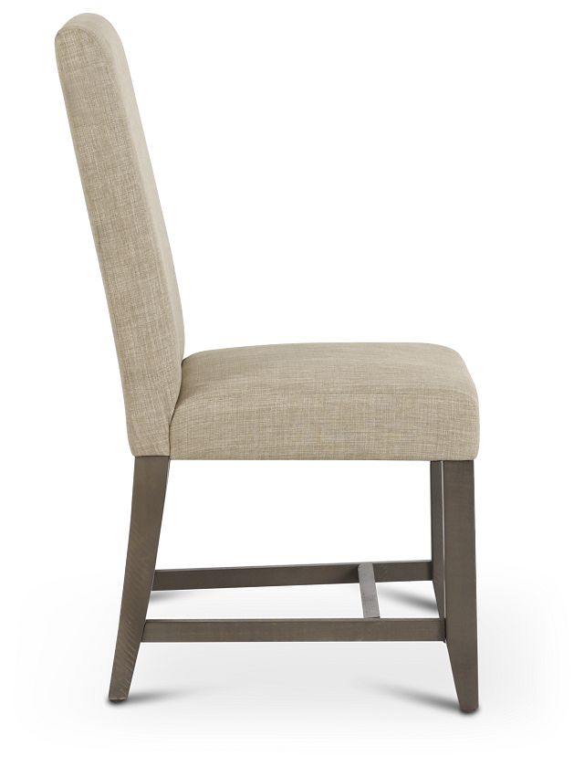 Taryn Light Taupe Upholstered Side Chair (2)