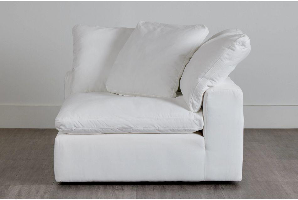 Nixon White Fabric Corner Chair,  (0)