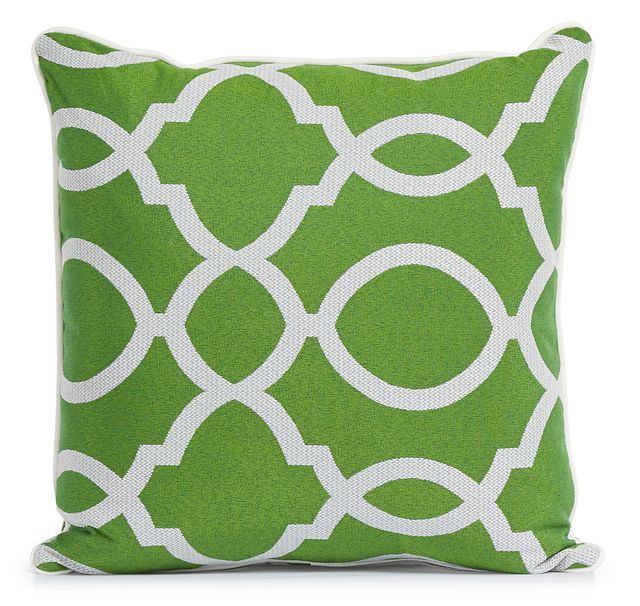 """Clover Green 18"""" Indoor/outdoor Square Accent Pillow (1)"""