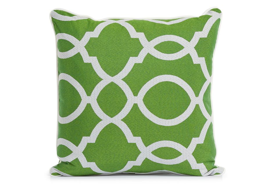 """Clover Green 18"""" Indoor/outdoor Square Accent Pillow"""