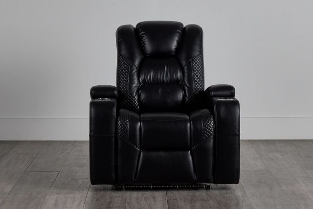 Troy Black Micro Power Recliner With Power Lumbar (0)