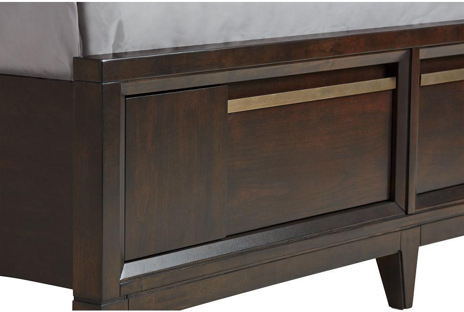 Sedona Dark Tone Panel Storage Bed