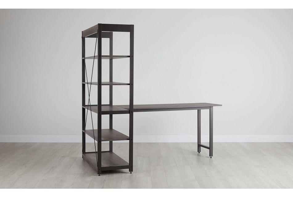 Milton Gray Desk & Bookcase,  (0)