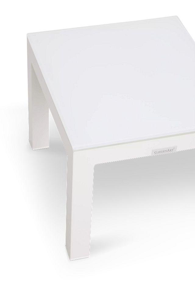 Lisbon3 White End Table