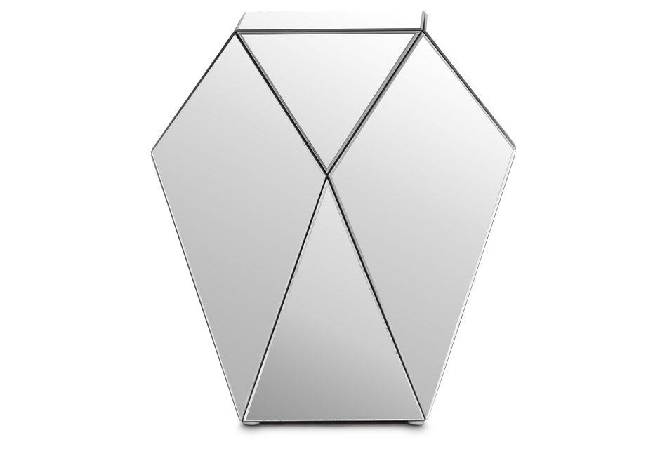 Geo Silver Medium Accent Table