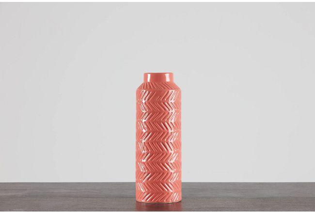 Lark Orange Large Vase