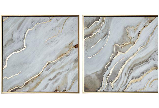 Corian Silver Set Of 2 Framed Wall Art