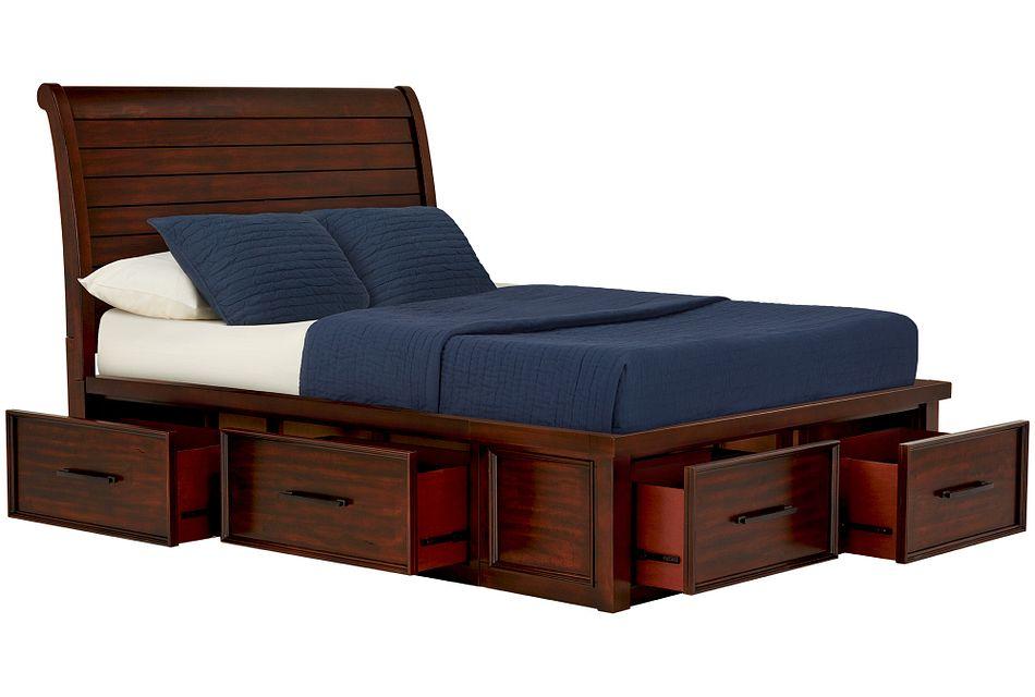 Napa Dark Tone 4-drawer Sleigh Storage Bed