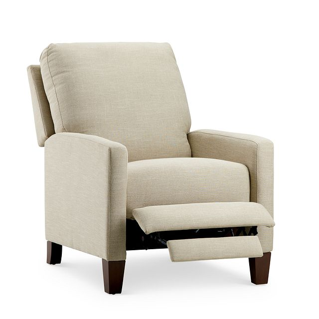 Griffin Beige Fabric Push Back Recliner (1)
