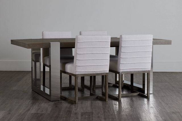 Berlin White Table & 4 Upholstered Chairs (0)