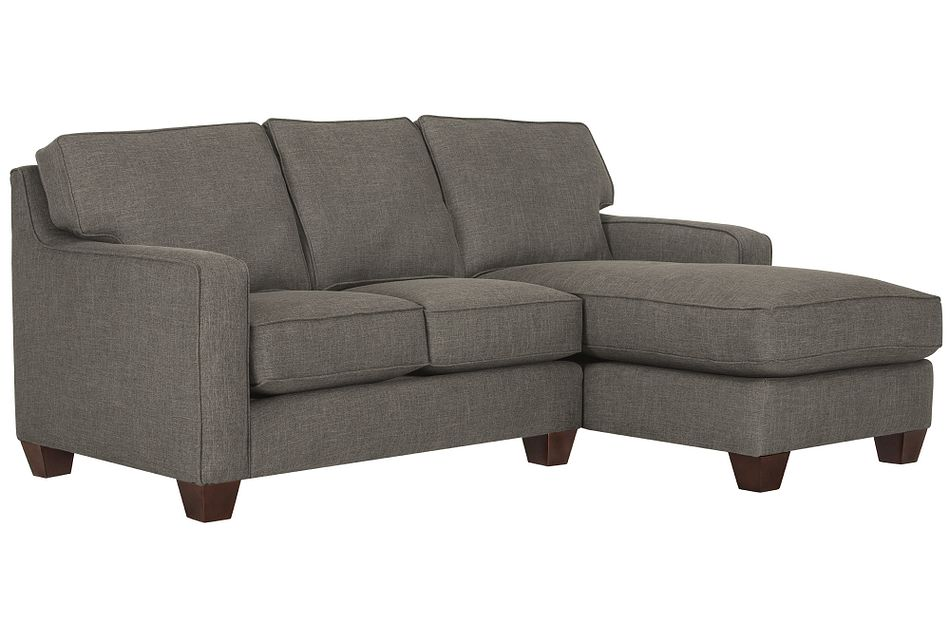 York Dark Gray  FABRIC Right Chaise Sectional