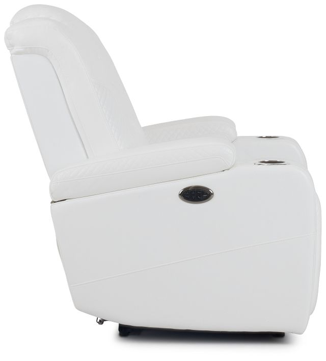 Troy White Micro Power Recliner With Power Lumbar (2)