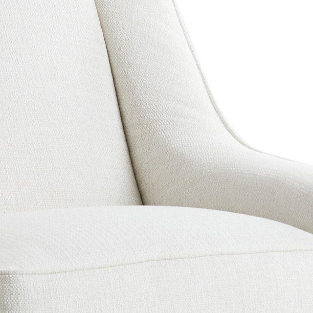 Austin White Fabric Swivel Rocker Glider