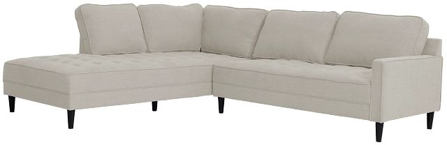 Eli Taupe Micro Left Chaise Sectional (2)
