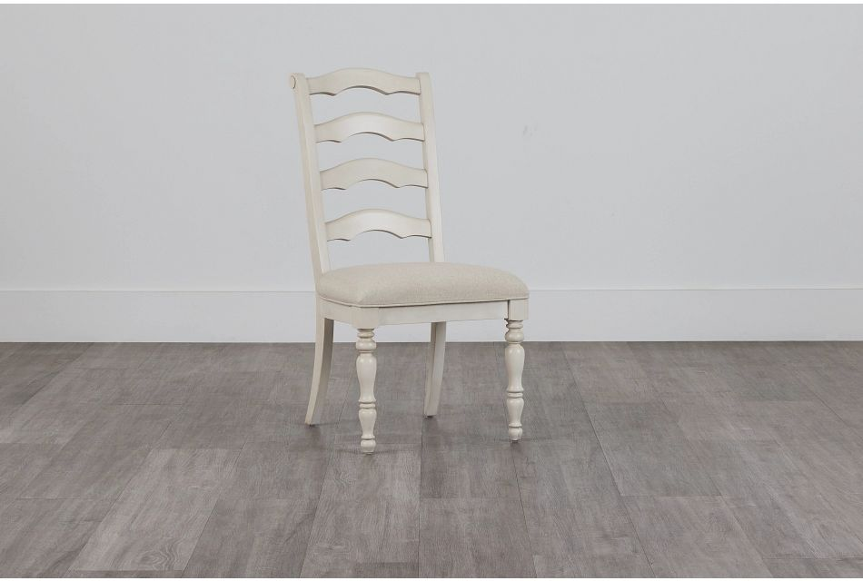 Savannah Ivory Wood Side Chair,  (0)