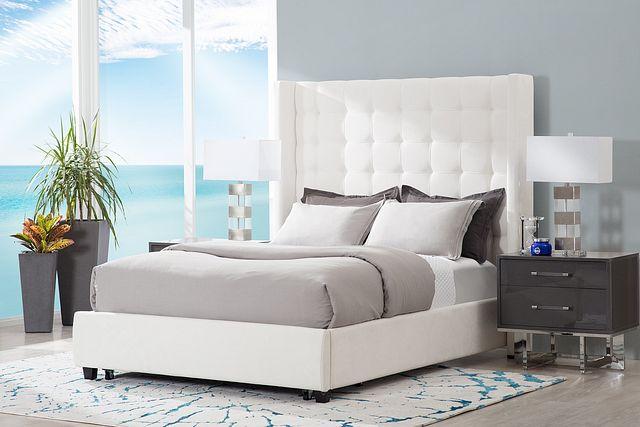 Marco White Uph Platform Storage Bed (3)