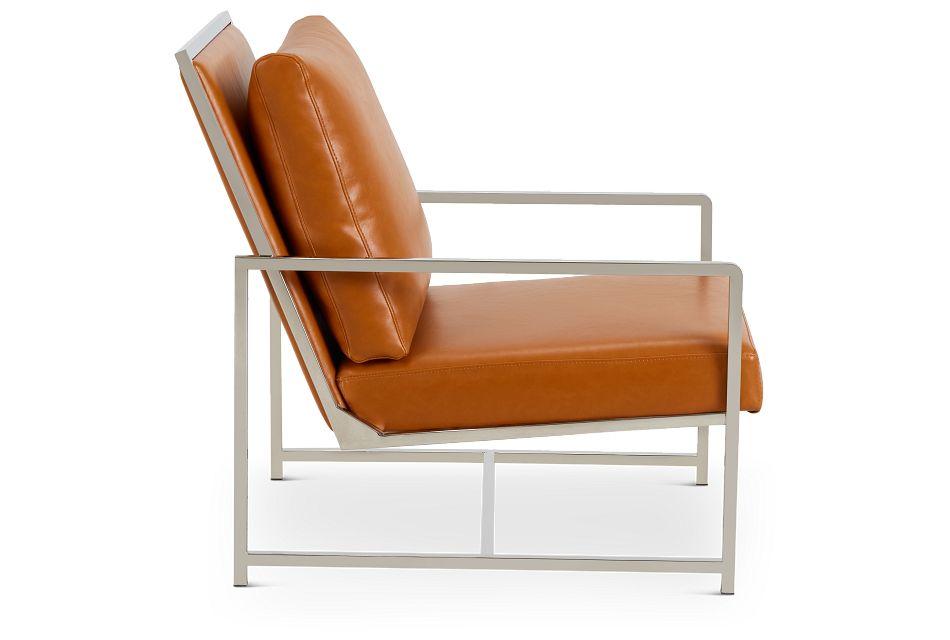 Harvey Medium Brown Uph Accent Chair,  (2)