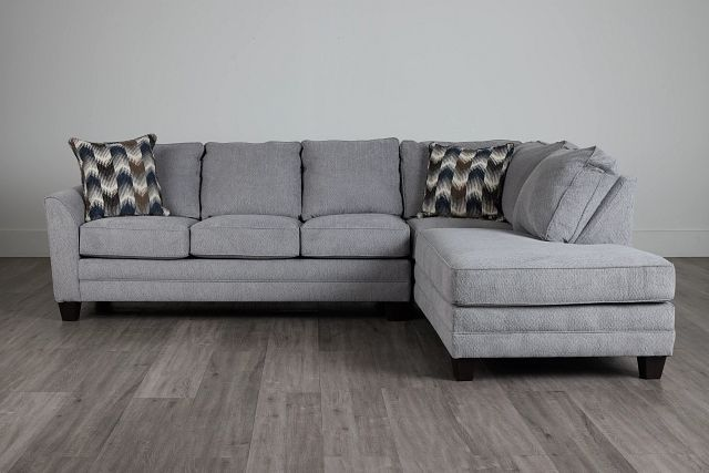 Charlie Light Gray Fabric Right Bumper Sectional (0)