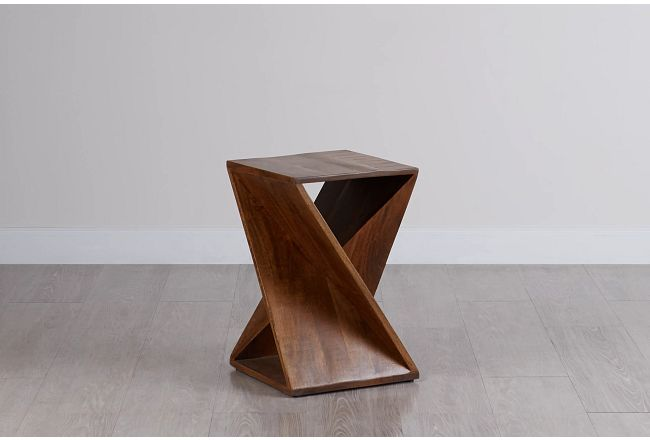Jasper Square Wood Accent Table