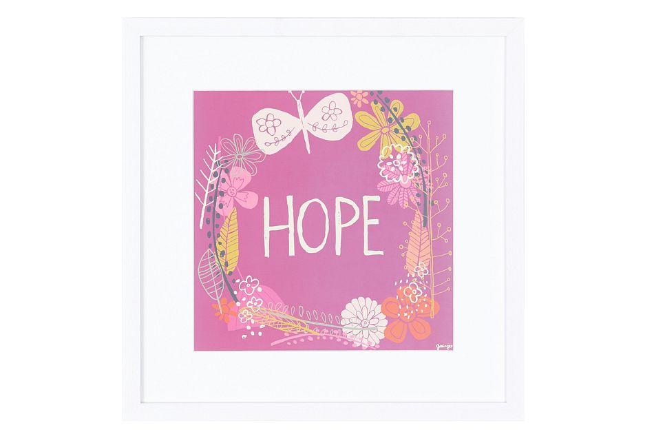 Hope Multicolored Framed Wall Art
