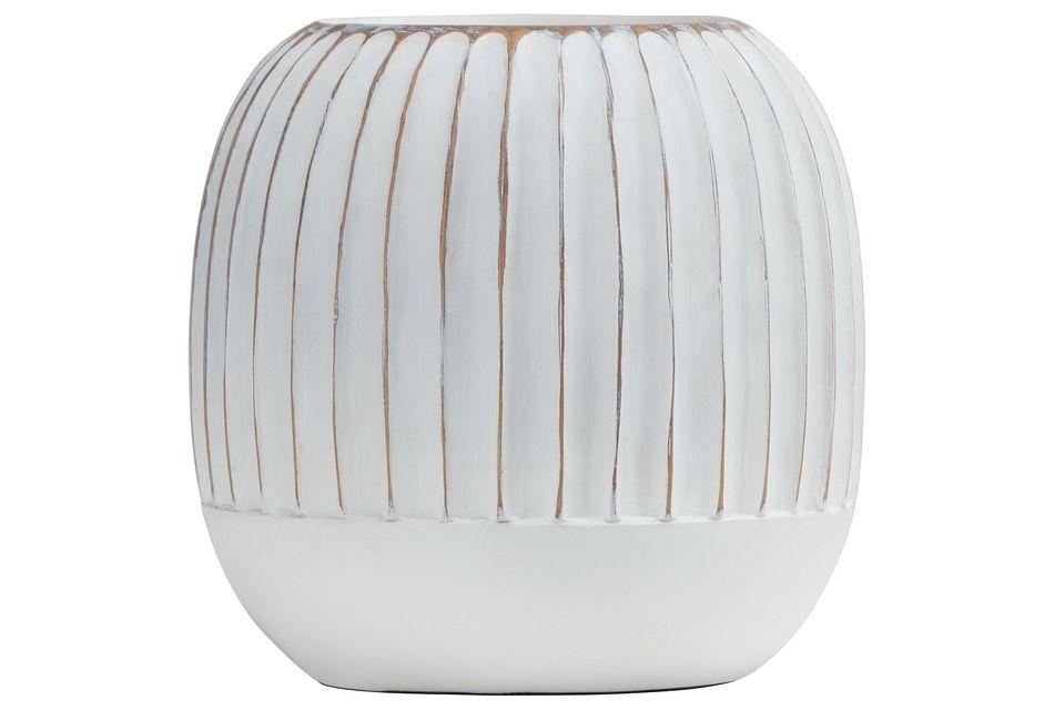 Taylor White Round Vase