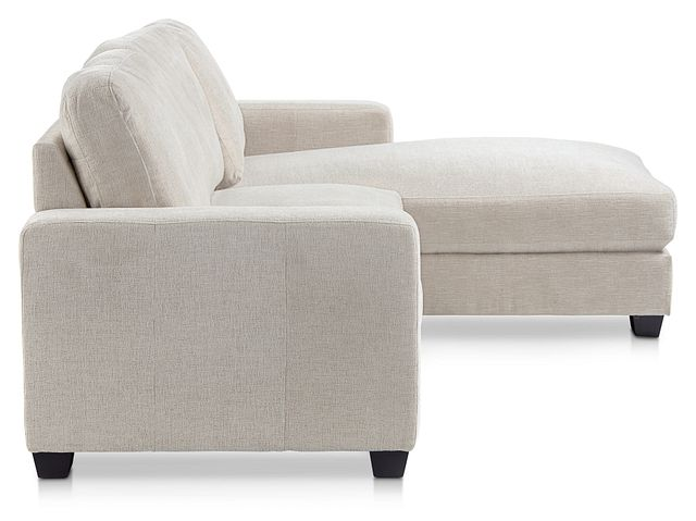 Estelle Beige Fabric Right Chaise Sectional (2)