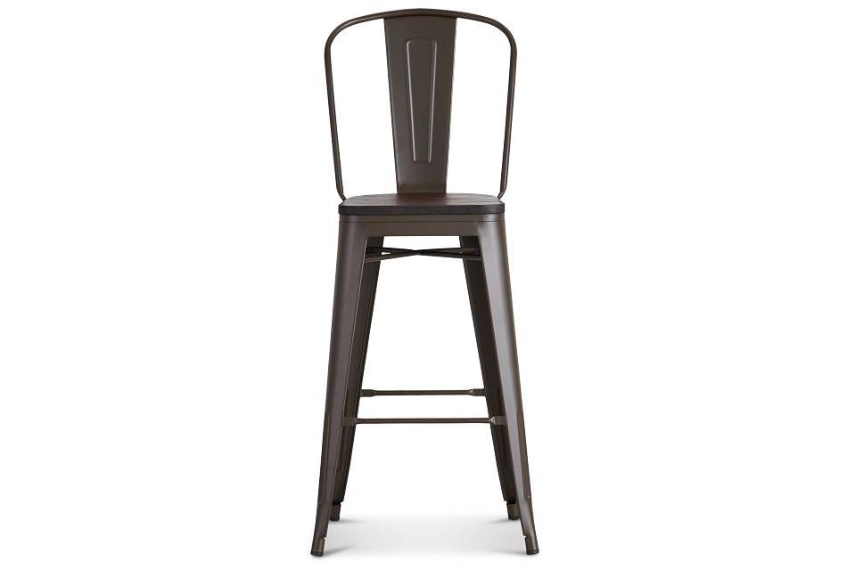 "Harlow Dark Tone 30"" Wood Barstool"
