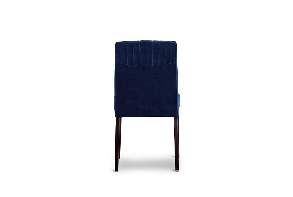 Fraser Dark Blue Velvet Upholstered Side Chair