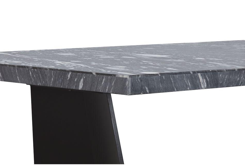 Auburn Dark Gray Marble High Dining Table