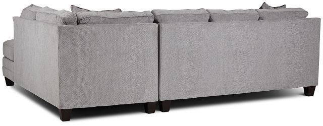 Charlie Light Gray Fabric Right Bumper Sectional