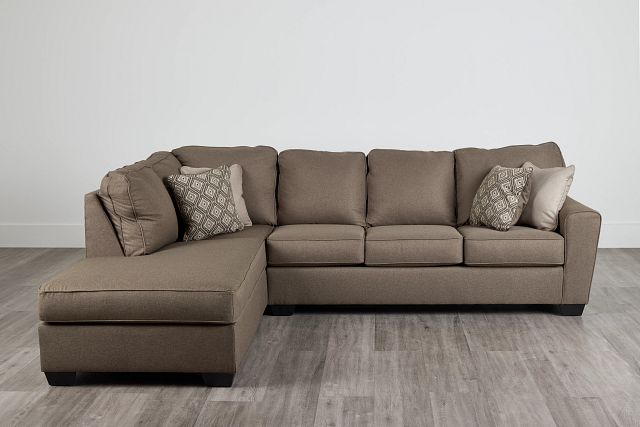 Calicho Dark Taupe Micro Left Chaise Sectional (0)