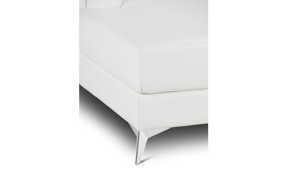 Gianna White Micro Left Chaise Sectional