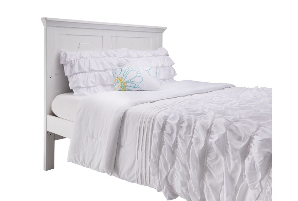 Imperial White Panel Bed