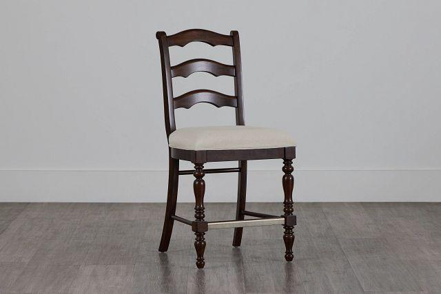 "Savannah Dark Tone 24"" Wood Barstool (2)"