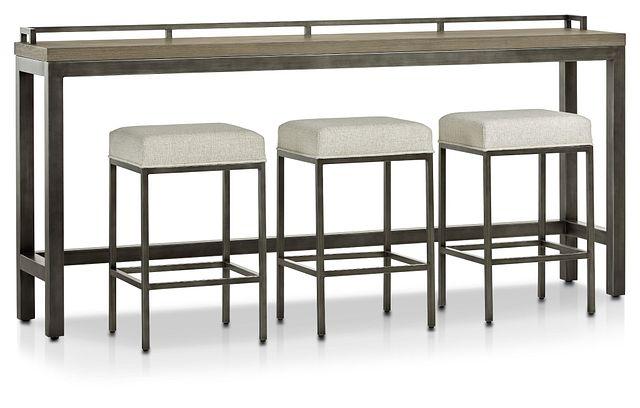 Zephyr Gray High Table & 3 Barstools (0)