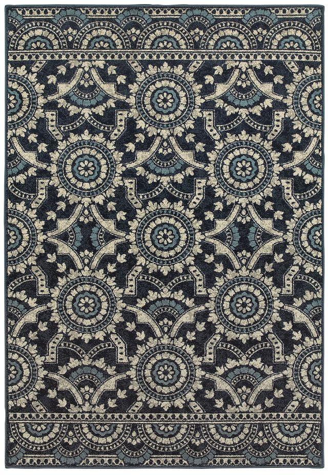 Linden Dark Blue 5x8 Area Rug (0)