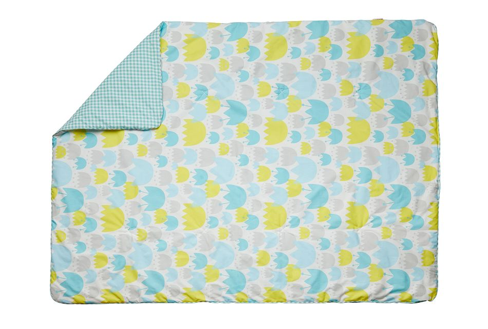 Tulip Light Blue  5 Piece Crib Bedding Set