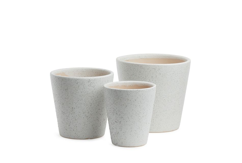 Hayden Ceramic Set Of 3 Vase