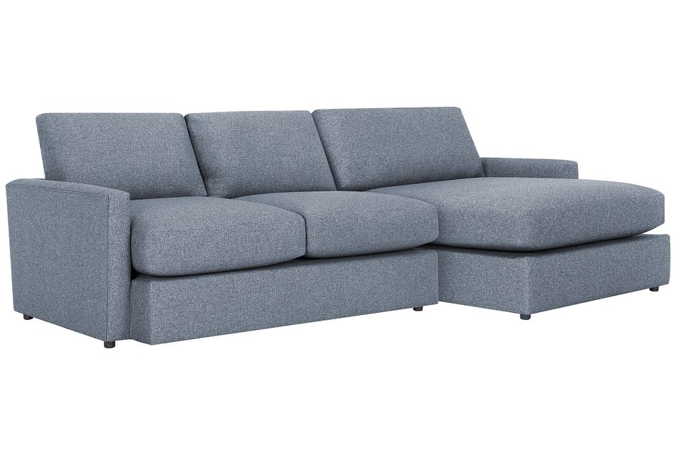 Noah Dark Gray Fabric Small Right Chaise Sectional