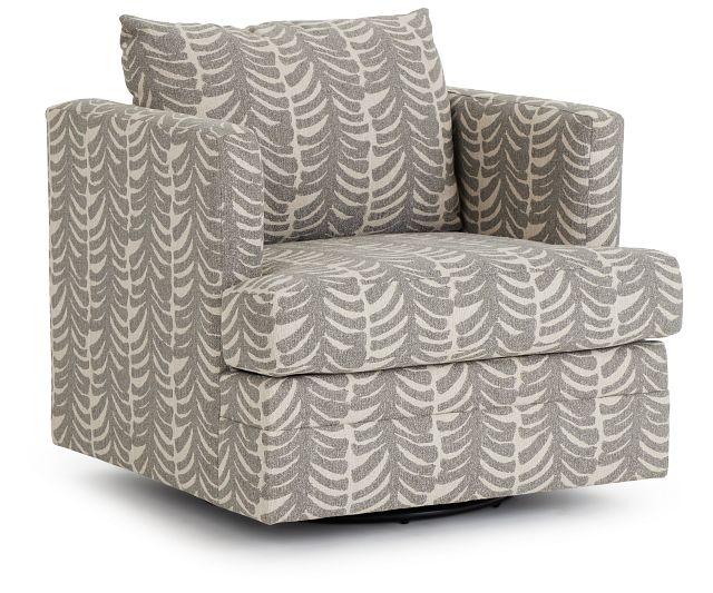 Bianca Gray Fabric Swivel Accent Chair (1)
