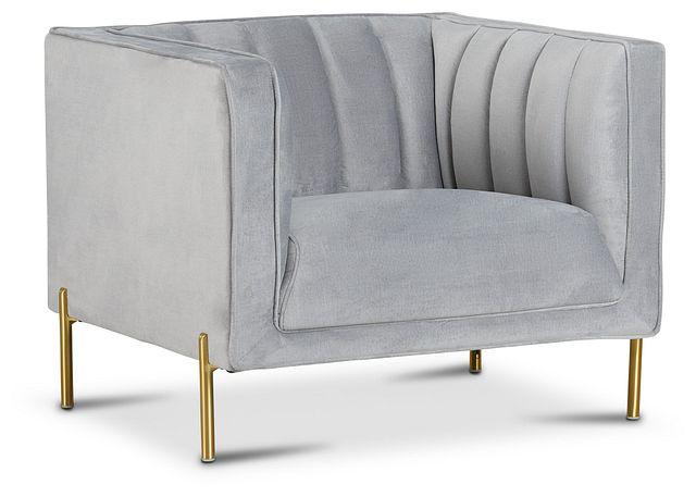 Bella Gray Velvet Chair (1)