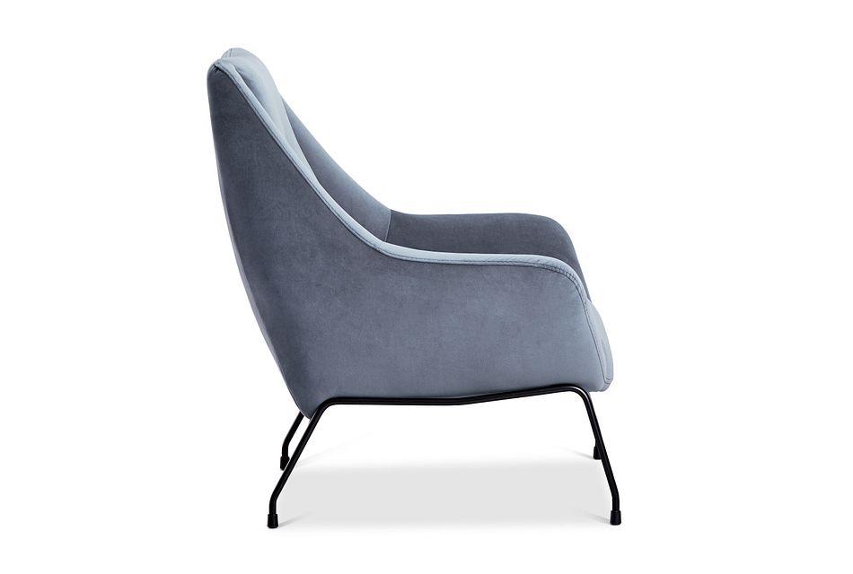 Xena Light Gray Velvet Accent Chair
