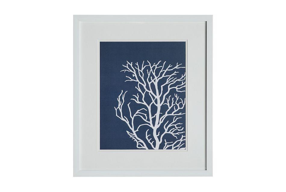 Lyra Dark Blue Framed Wall Art