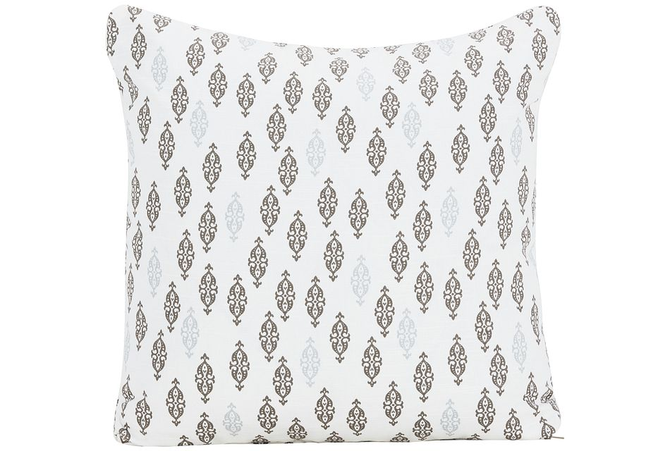 Boteh Multicolored Fabric Square Accent Pillow