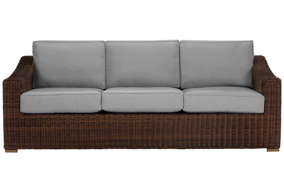 Canyon Dark Brown Gray Sofa