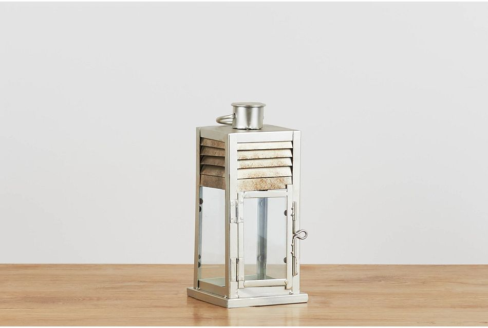 Dallas Silver Small Lantern