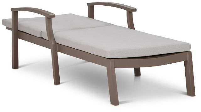 Raleigh Gray Aluminum Cushioned Chaise (0)