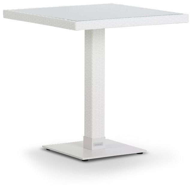 """Lisbon2 White 27"""" Square Table (1)"""