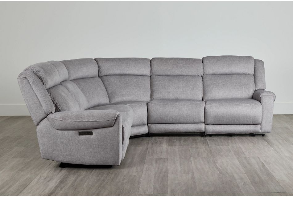 Beckett Gray Micro Small Two-Arm Power Reclining Sectional,  (0)